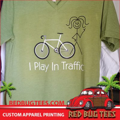 I Play In Traffic - Funny Bike Shirt
