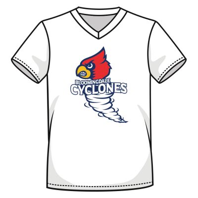 Bloomingdale Cyclones - Custom Printed VNeck Shirt
