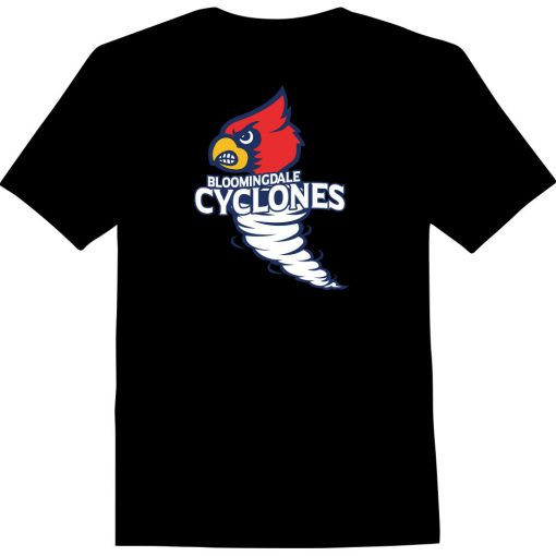 Bloomingdale Cyclones - Custom Printed T-Shirt in Black